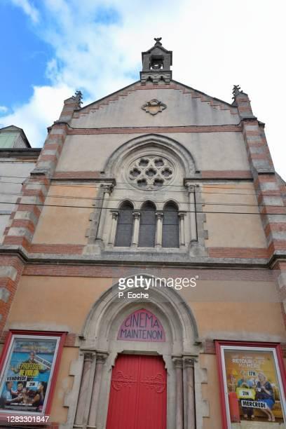 bagnères-de-bigorre, former chapel transformed into cinema - バニェールドビゴール ストックフォトと画像