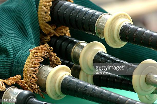 bagpipe details - bagpipes stock pictures, royalty-free photos & images
