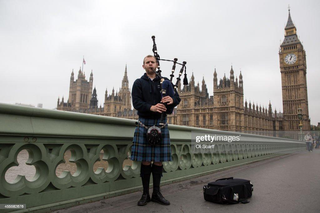 The Final Day Of Campaigning For The Scottish Referendum Ahead Of Tomorrow's Historic Vote : Foto di attualità
