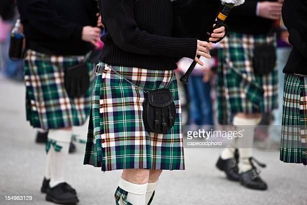 bagpipers marching - st patricks day stock pictures, royalty-free photos & images