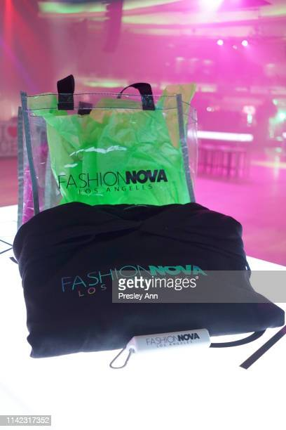 Bags are seen as Fashion Nova Presents Party With Cardi at Hollywood Palladium on May 8 2019 in Los Angeles California
