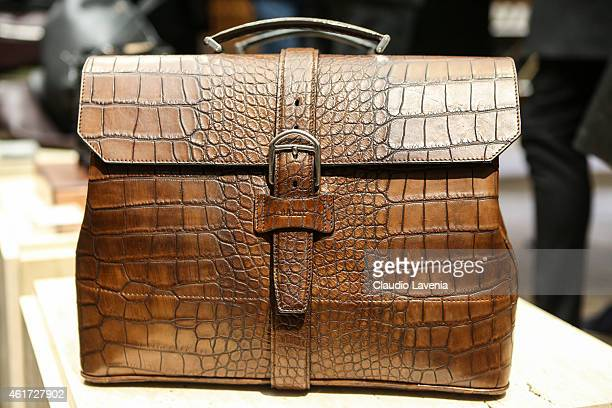 Bags detail of Bally presentation during the Milan Menswear Fashion Week/Fall Winter 2015/2016 on January 18 2015 in Milan Italy