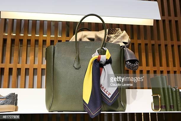 Bags detail of Bally presentation during the Milan Menswear Fashion Week/Fall Winter 2015/2016 on January 18 2015 in Milan Italy