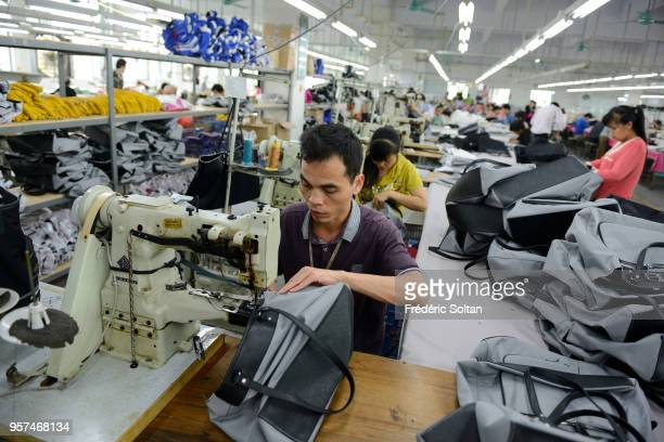 Bags factory in Shenzhen Former fishing village Shenzhen became China's first Special Economic Zones and the major city in the south of Southern...