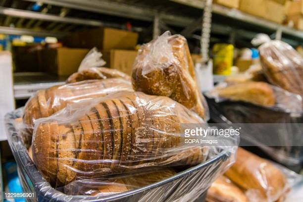 Bags of bread at Chasdei Kaduri Jewish Food Bank. It is the only Jewish organization that is fully operated by volunteers, dedicated to providing...