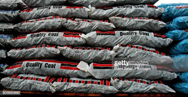 Bags of coal in Ahern Fuels in Urlingford CoKilkenny on Budget day when the Government has signalled it will introduce a carbon tax expected to raise...