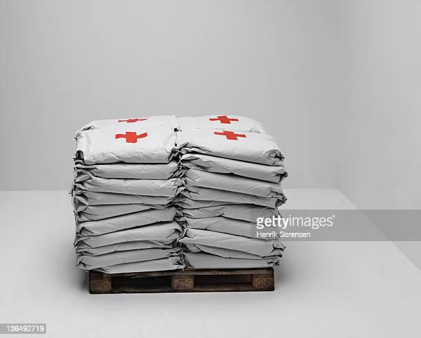 bags of emergency aid