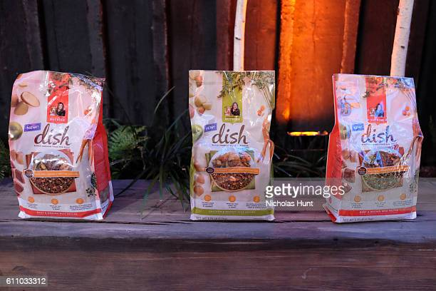 Bags of Rachael Ray's Nutrish DISH are seen during the celebration of the launch of Rachael Ray's Nutrish DISH with a Puppy Party on September 28,...