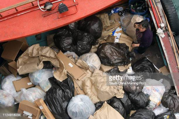 Bags of rubbish are collected from the visitng USS Blue Ridge Ocean Terminal TST USS BLUE RIDGE is the lead ship of the BLUE RIDGE class and the...
