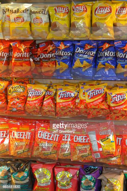 Bags of snacks for sale at Miami International Airport