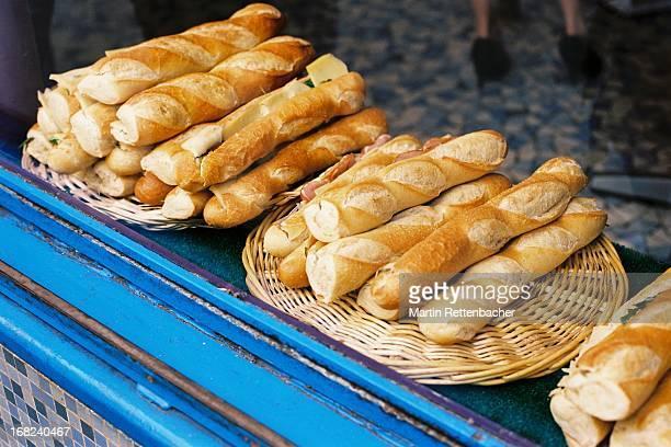Baguette Sandwiches at a Boulangerie in Paris