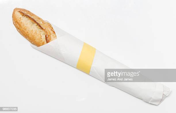Baguette Wrapped in Paper