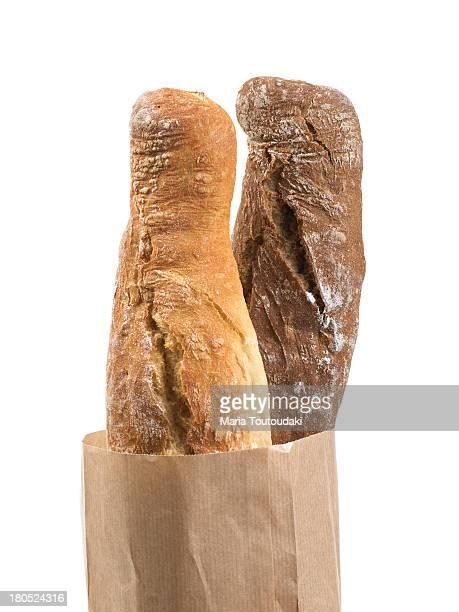 Baguettes in paper bag