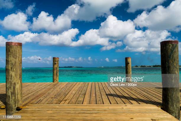 baha mar dock - cable beach bahamas stock photos and pictures