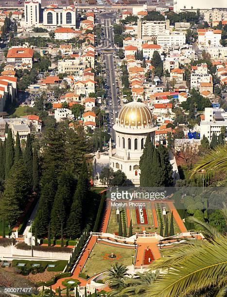 Bahai Gardens and Dome in Haifa Israel