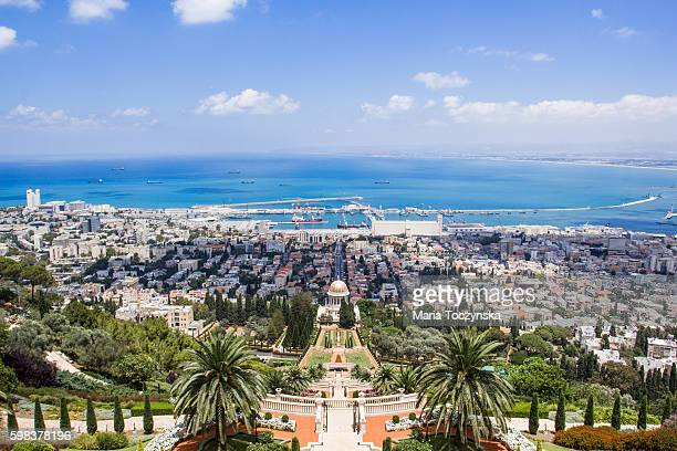 bahai gardens - haifa stock pictures, royalty-free photos & images