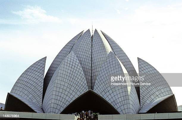 Baha'i House of Worship also known as The Lotus Temple in New Delhi, India was designed by Iranian architect Farborz Sahba and completed in 1986.