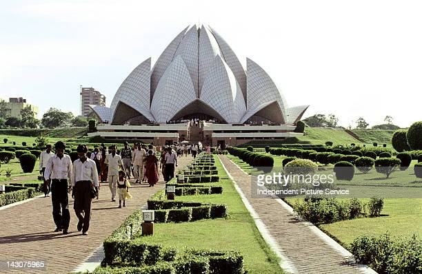 Baha'i House of Worship also known as The Lotus Temple in New Delhi India was designed by Iranian architect Farborz Sahba and completed in 1986