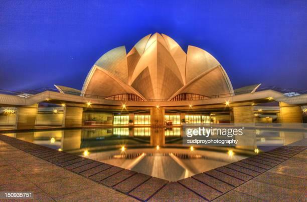bahai temple new delhi - new delhi stock pictures, royalty-free photos & images