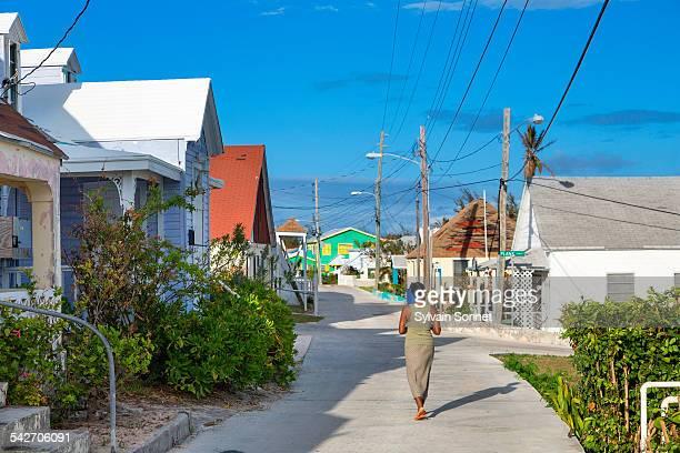 bahamas, eleuthera island, current village - ハーバー島 ストックフォトと画像