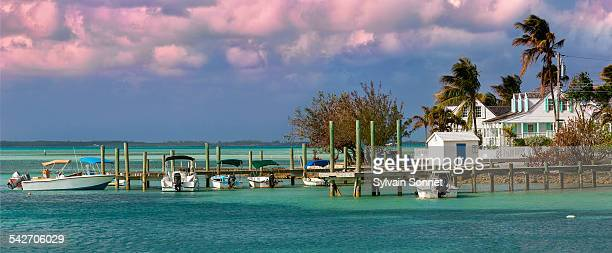 bahamas, harbour island, dunmore town - harbor island bahamas stock photos and pictures