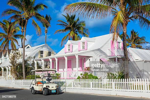 Bahamas, Harbour Island, house along Bay Street
