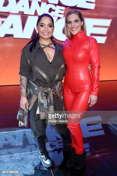 Bahar Kizil and Sandy Moelling during the 1st show of the television competition 'Dance Dance Dance' on July 12 2017 in Cologne Germany The first...