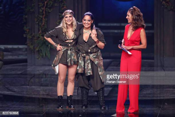 Bahar Kizil Sandy Moelling and Nazan Eckes during the 1st show of the television competition 'Dance Dance Dance' on July 12 2017 in Cologne...