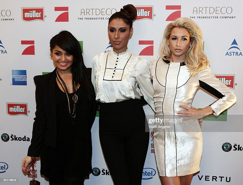 Bahar Kizil, Senna Guemmour and Mandy Capristo, members of the girl band Monrose attends the Movie Meets Media 10th Anniversary event on December 07, 2009 in Hamburg, Germany.