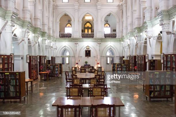 Bahawalpur, Pakistan, 4 October 2018. A view from the interior of the Bahawalpur Central Library with an imposing architecture of Italian variety....