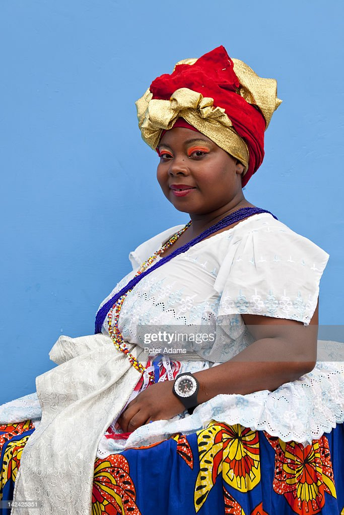 Brazilian Woman Wearing Traditional Clothes From Bahia