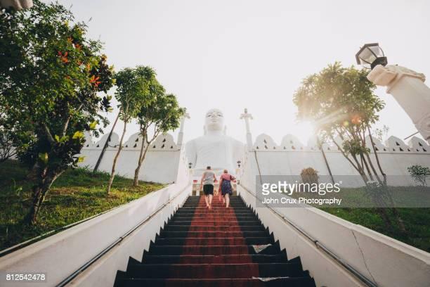 bahiravokanda viharaya buddha statue - sri lanka stock pictures, royalty-free photos & images