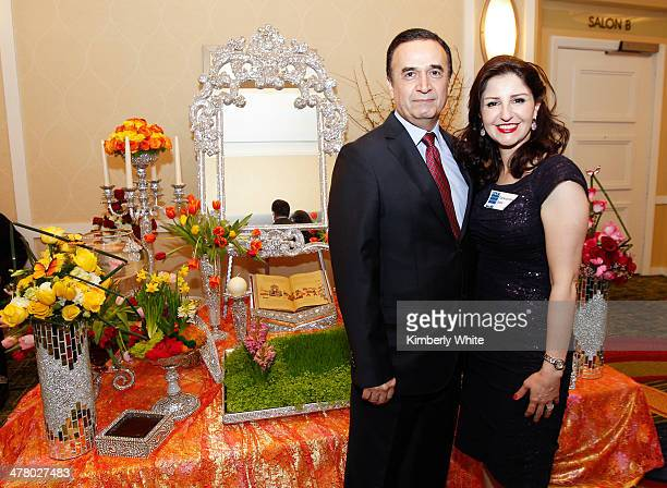 Bahman Daryabary and Farkhondeh Saeb attend the PARS Equality Center 4th Annual Nowruz Gala at Marriott Waterfront Burlingame Hotel on March 8 2014...