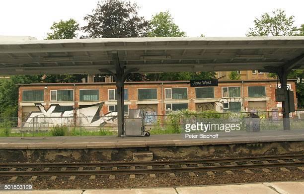 Bahnhof JenaWest Thüringen Deutschland Europa Bahnsteig Gleise Reise BB DIG PNr 1001/2010