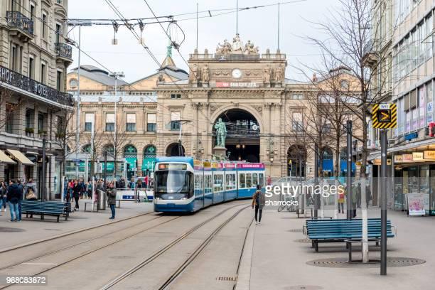 bahnhofstrasse, zurigo, svizzera - città di zurigo foto e immagini stock