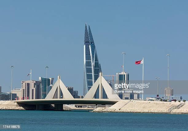 bahrain. city skyline of the capital manama. - bahrain stock pictures, royalty-free photos & images