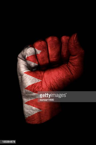 bahrain fist flag - dictator stock pictures, royalty-free photos & images