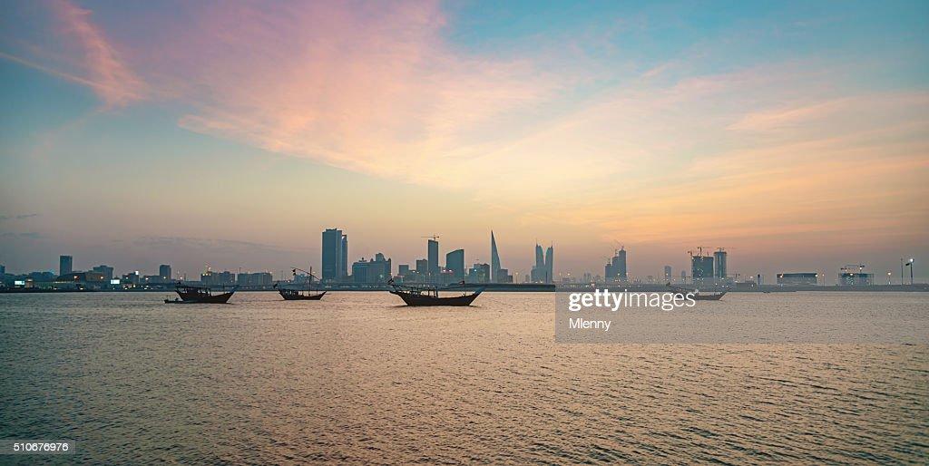 Bahrain Manama City by Night : Stock Photo