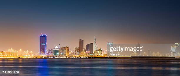 Bahrain Manama Skyline Panorama at Night