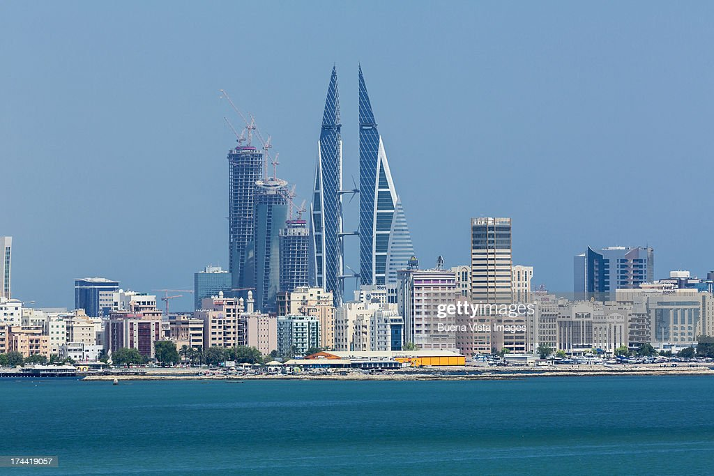 Bahrain. Modern buildings in Manama skyline. : Stock Photo