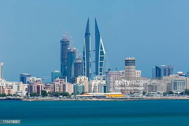 bahrain. modern buildings in manama skyline. - manama stock pictures, royalty-free photos & images