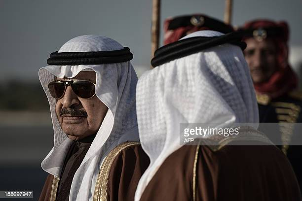 Bahrain Prime Minister Sheikh Khalifa Bin Salman alKhalifa waits for dignitaries to arrive in Manama on December 24 to attend the annual Gulf...