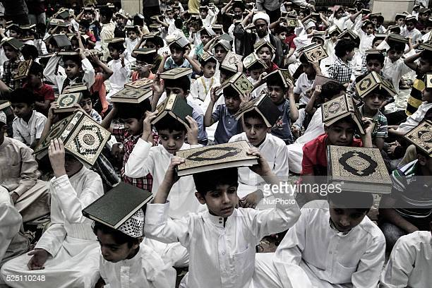 Bahrain Sanabis in preparation for Laylat alQadr during the holy month of Ramadan when the Koran holy book was revealed to Prophet Mohammed by...