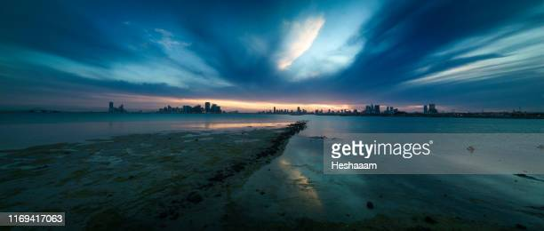 bahrain seascapes panorama - bahrain stock pictures, royalty-free photos & images