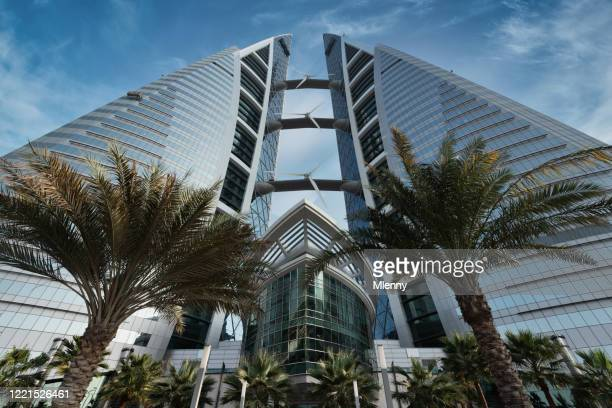 bahrain world trade center in manama bahrain middle east - manama stock pictures, royalty-free photos & images
