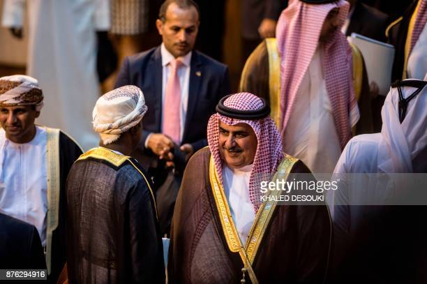 Bahraini Foreign Minister Sheikh Khalid bin Ahmed alKhalifa is pictured during a meeting at the Arab League headquarters in the Egyptian capital...