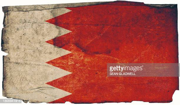 bahraini grunge flag poster - insignia stock pictures, royalty-free photos & images