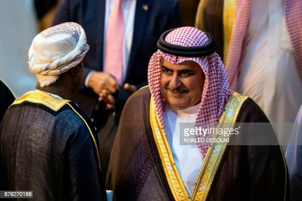 Bahrain's Foreign Minister Sheikh Khalid bn Ahmed alKhalifa is pictured during a meeting at the Arab League headquarters in the Egyptian capital...