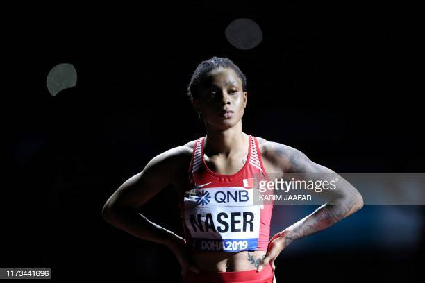 TOPSHOT Bahrain's Salwa Eid Naser prepares to compete in the Women's 400m final at the 2019 IAAF Athletics World Championships at the Khalifa...