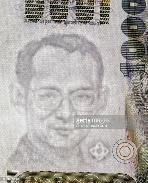 1000 baht banknote 19901999 watermark with King Rama IX Thailand 20th century